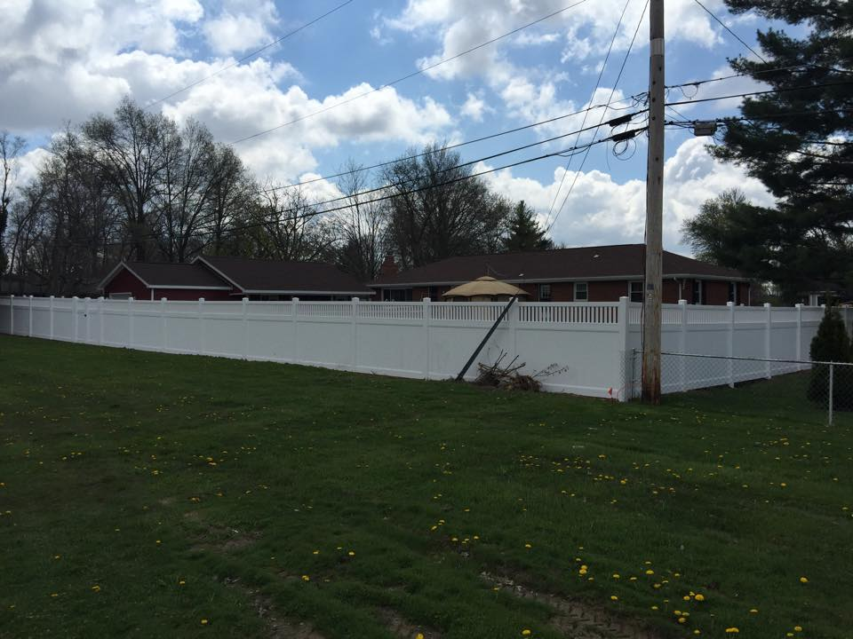 White Vinyl Privacy Fencing